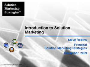 Introduction to Solution Marketing - The Solution Marketing Blog